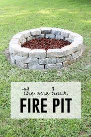 diy backyard pit pit project you can do in one hour