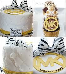 michael baby shower decorations michael kors inspired cake and cupcakes oven masterpieces