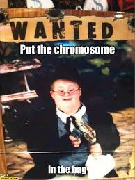 Syndrome Of A Down Meme - put the chromosome in the bag down syndrome robbery starecat com
