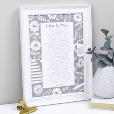 a letter to mum poem print by bespoke verse notonthehighstreet com