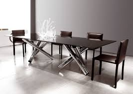 contemporary table glass marble oak van dyck minotti