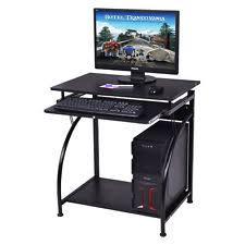Black Glass Computer Desks For Home Black Desk Ebay