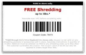 staples black friday coupon staples free shredding up to 5 pounds printable coupon