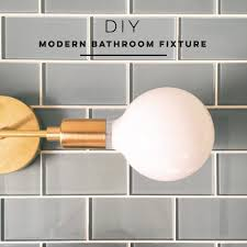 lighting diy modern bathroom fixture my simply simple