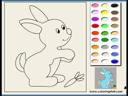 free bunny coloring pages kids bunny coloring pages