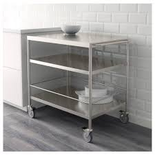 flytta kitchen trolley stainless steel 98x57 cm ikea