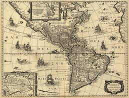 North South America Map by Of North And South America