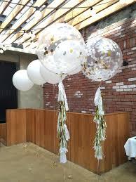 jumbo balloons jumbo confetti balloon white gold silver burnt butter cakes