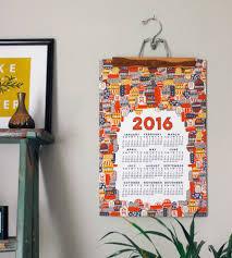 Wall Calendar Organizer 2016 Tiki Wall Calendar Art Cards U0026 Stationery Made By