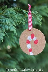 fingerprint candy cane ornament fspdt