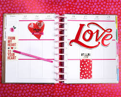 big valentines day journalling for s day in the happy planner me