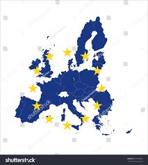 European Union Map Blue Map European Union Eu Flag Stock Vector 331639262 Shutterstock