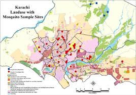 map of karachi sling locations shown on the land use map of karachi after naqi