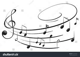 illustration musical notes gclef on white stock illustration