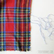 make an easy no sew diy plaid blanket scarf the diy mommy