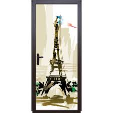 Eiffel Tower Decorations Door Sticker Paris Eiffel Tower Art Wallpaper Door Mural Vinyl