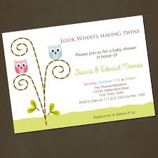 twin baby shower invitations invitations templates