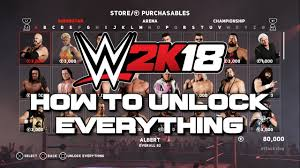 wwe 2k18 cena nuff edition and basic deluxe edition wwe wwe 2k18 how to unlock everything tutorial youtube