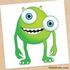 monsters pin eye mike printable