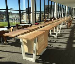 Live Edge Conference Table Reclaimed Wood Tables And Bar Counters Cafes Breweries Offices