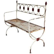 Antique Outdoor Benches For Sale by Antique French Metal Garden Bench For Sale At 1stdibs