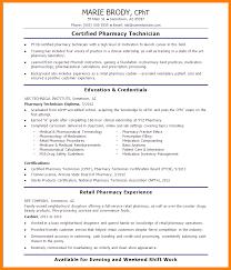 Resume Objective Pharmacy Technician 6 Pharmacy Technician Trainee Job Description Address Example