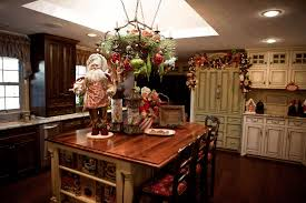 christmas decorations for kitchen white wooden island counter