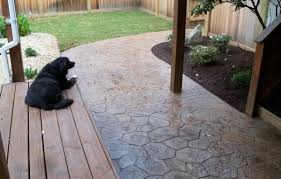 Backyard Stamped Concrete Ideas Home Design Backyard Stamped Concrete Patio Ideas Banquette Home