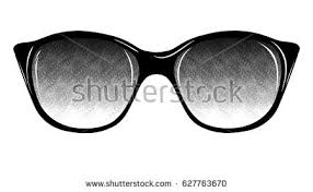 fashion sunglasses on white background isolated stock vector