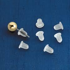 invisible earrings for school clear bullet earring backs rubber earring backs kimball