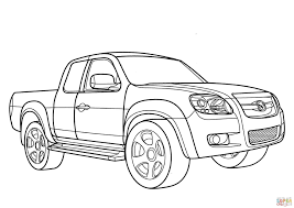 mazda bt50 mazda bt 50 pickup coloring page free printable coloring pages