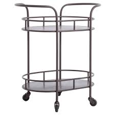 Industrial Kitchen Cart by Cole Industrial Style Metal Small Oval Bar Cart Kathy Kuo Home