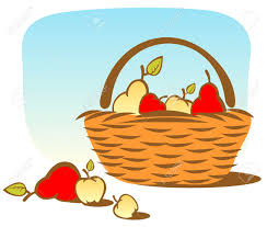 picnic basket clipart cartoon apple pencil and in color picnic