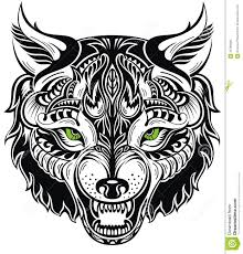 totem animal wolf tattoo illustration 45799300 megapixl