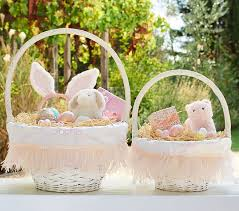 easter basket liners personalized pink feather easter basket liners pottery barn kids