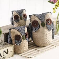 Aliexpresscom  Buy PCSLOT Cloth Art Jute Owl Figurine - Home decor articles