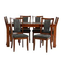 slate dining room table ashley furniture slate top dining table and six chairs ebth