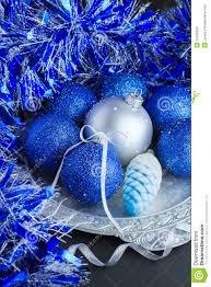 blue christmas decorations stock photos image 34526033