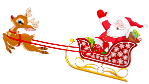 santa sleigh and reindeer clipart santa sleigh and reindeer clipartxtras