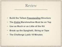 Challenge Directions Marshmallow Challenge