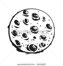 vector illustration moon black white doodle stock vector 431632057