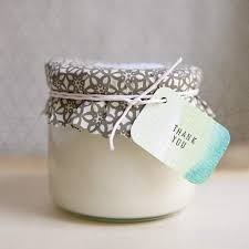 eco friendly wedding favors diy soy candle favors ruffled