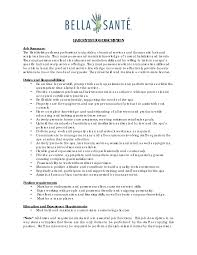 Housekeeping Resume Examples by Hair Stylist Resume Housekeeper Job Description Examples