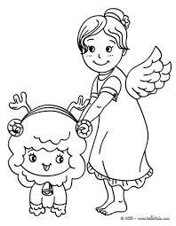 gabriel angel coloring pages hellokids