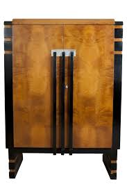 art deco china cabinet donald deskey art deco walnut burl china cabinet for hastings table