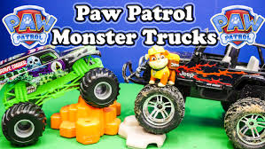 monster truck videos paw patrol nickelodeon paw patrol u0026 grave digger monster truck paw