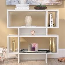 modern white bookcases allmodern