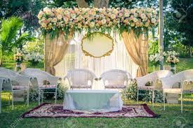 wedding arches decorated with flowers wedding arch decorated with flowers vintage picture stock photo