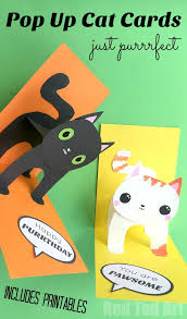 3d cat card diy ted s
