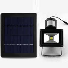solar led flood lights solar led flood light w motion sensor easypower